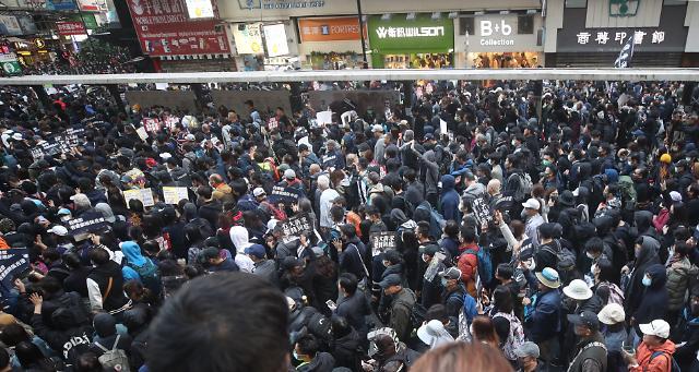 홍콩, 세계 인권의 날 기념 대규모 집회... 평화적 마무리에 주목