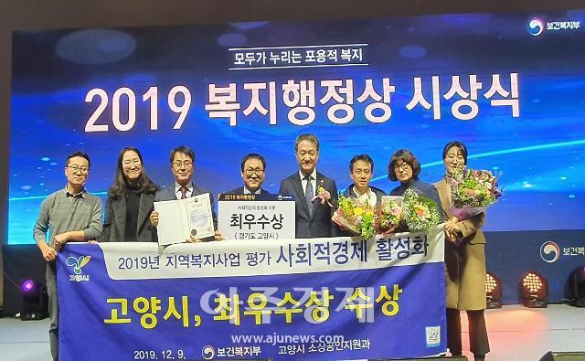 고양시, 보건복지부 '2019 사회적경제 활성화 부문' 최우수상