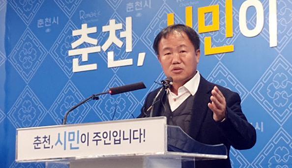 [포토] 안마의자 논란 이재수 춘천시장 사과