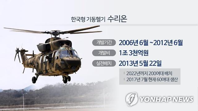 육군 수리온 37일만 운항 재개... 진동 원인은 볼트 풀림