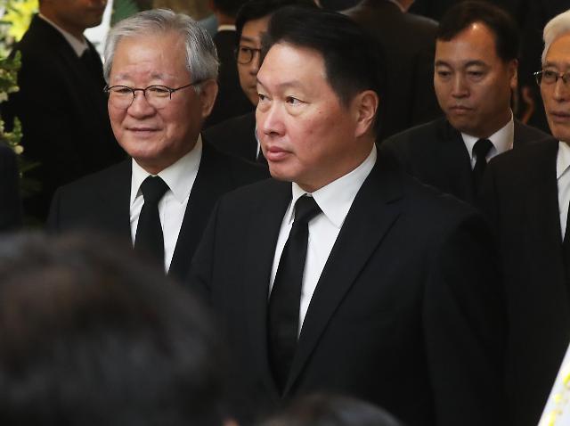 故 김우중 회장 장례 이틀째…최태원·신동빈 등 정재계 7000여명 조문