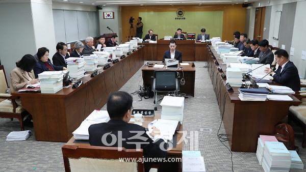 충남도의회 예결특위, 내년 충남도 본예산 107억원 삭감