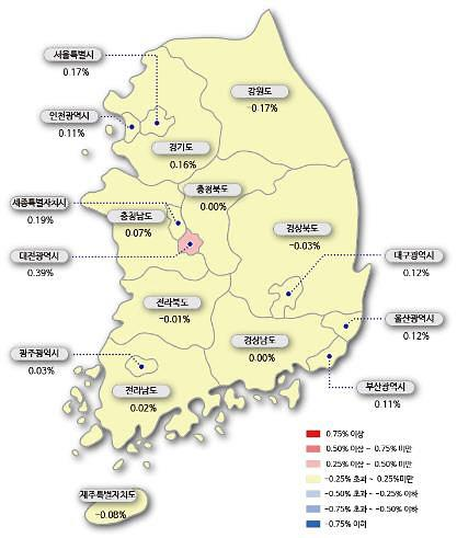 서울 아파트값 24주 연속 올라…9·13 대책 이후 최대 상승