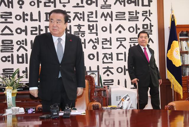 [포토] 문희상 의장과 심재철 원내대표