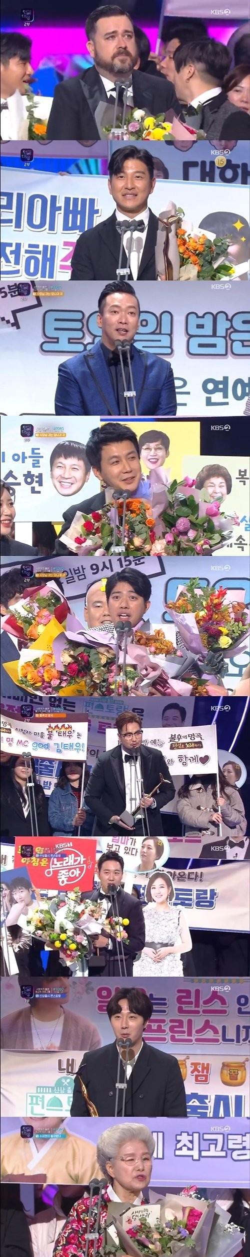 """[2019 KBS 연예대상] 슈퍼맨 아빠들 대상 수상…박주호 """"나은·건후 동생 생겨""""(종합)"""