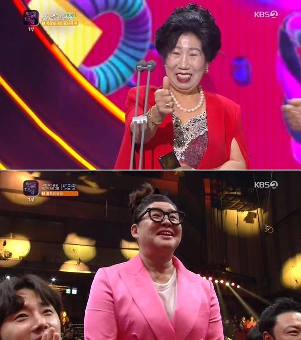 [2019 KBS 연예대상] 박막례 할머니, 핫이슈 예능인상 시상…이영자에 애정
