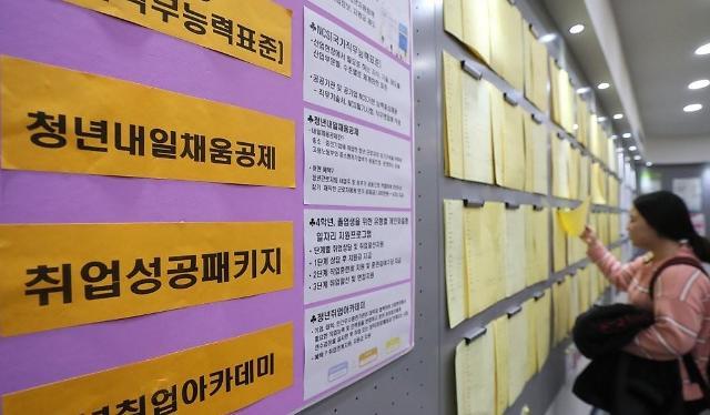 韩国银行:近三成大学毕业生放下身段求职