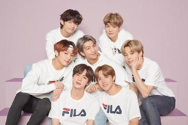 Apparel brand FILA releases first promotion image featuring BTS