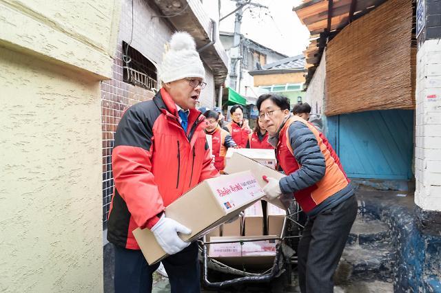 최신원 SK네트웍스 회장, 8년째 쪽방촌 방문 봉사활동 실시