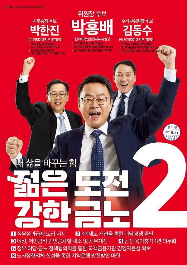 새 금융노조 위원장에 박홍배 KB국민은행지부장 당선