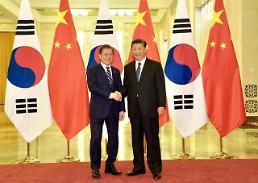 .【韩中日首脑会谈】就朝鲜无核化及解除限韩令达成共识 .