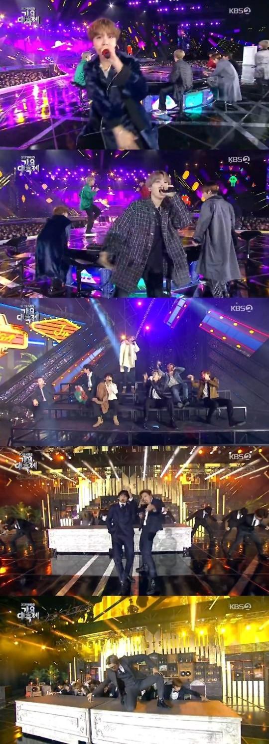 """가요대축제, 방탄소년단 """"스타는 마지막에"""" ··· 엔딩무대로 대미 장식"""