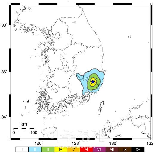 밀양 동북동쪽 규모 3.5 지진 발생…부산·울산서도 흔들림 감지