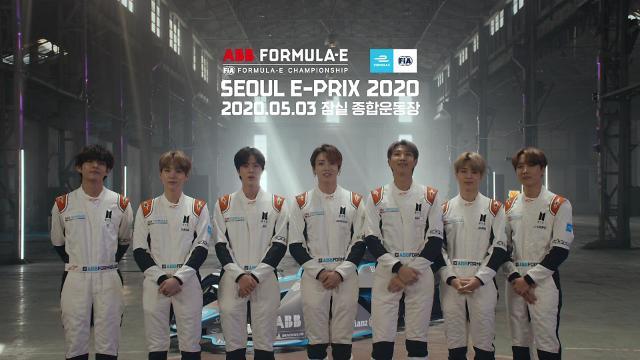 포뮬러 E글로벌 홍보대사 방탄소년단, 새해인사 영상 공개