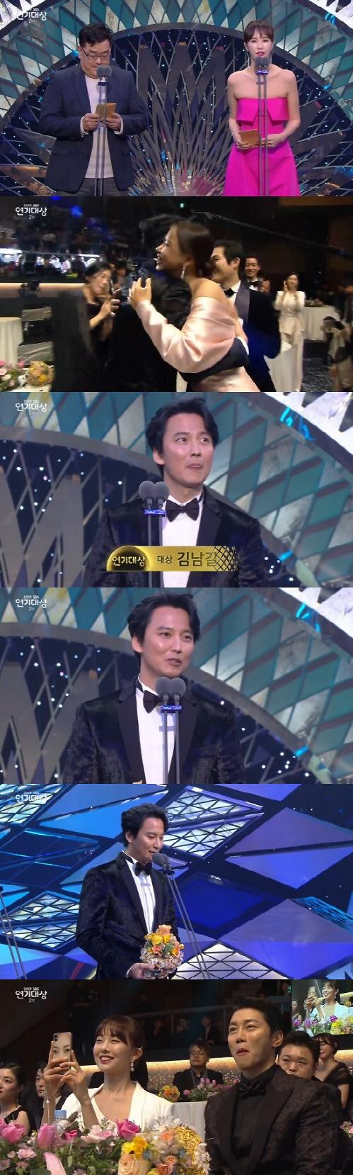[2019 SBS 연기대상] 김남길, 대상…열혈사제 휩쓸다