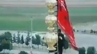 [포토] 모스크 위 붉은 깃발로 결사항전 의지 보인 이란