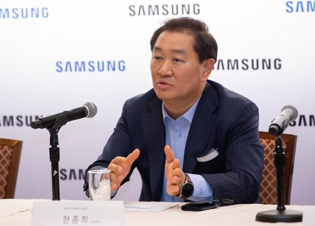 """[CES 2020] 한종희 삼성전자 사장 """"이젠 TV가 아니라 스마트 스크린"""""""