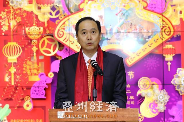 中国驻韩国大使馆代办金燕光等出席十二生肖文创展
