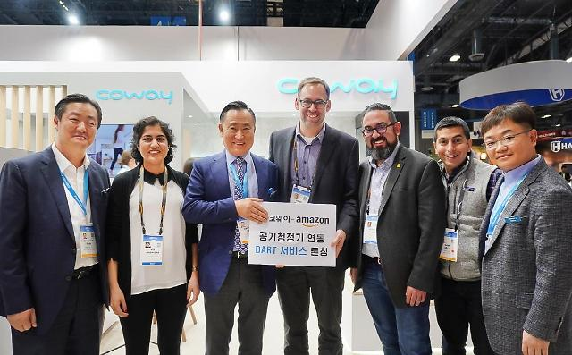 "[CES 2020] ""필터 주문해줘""···코웨이, 아마존 3세대 AI 플랫폼과 연동"