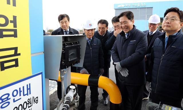 """수소경제 1년, """"세계 수소차 판매 1위·연료전지 점유율 40%"""""""