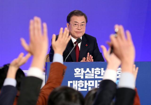 """[文대통령 신년회견] """"남북·북미 관계, 비관할 단계 아냐…낙관적으로 생각"""""""