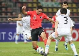 .U23亚锦赛韩国2比1胜乌兹 C组三战全胜.