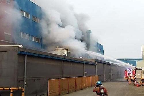 인천 동구 두산인프라코어 공장서 화재 발생…59명 대피