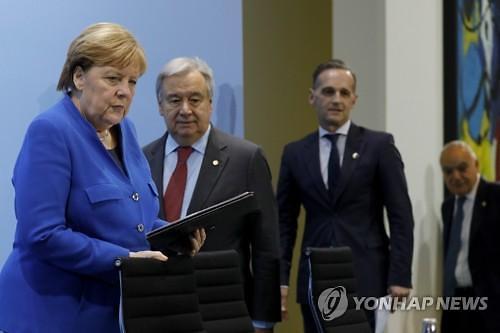 """리비아 중재 베를린 회담서 """"무기 수출 금지 약속"""""""