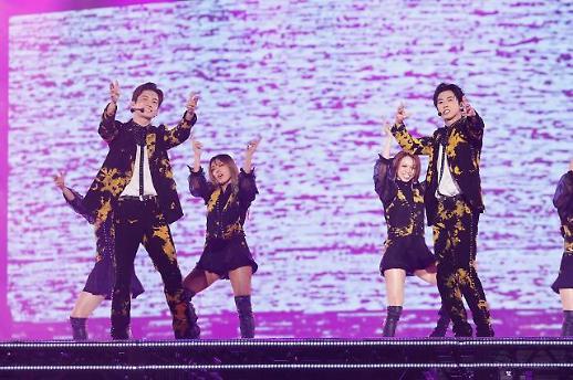 东方神起日本巨蛋巡回演唱会吸引60万名观众