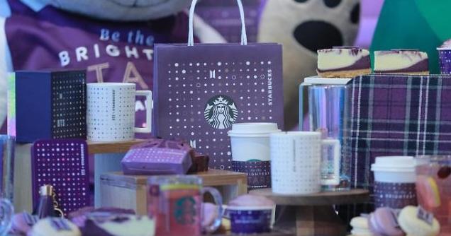 [슬라이드 화보] 미리보는 스타벅스 BTS 콜라보 MD제품들