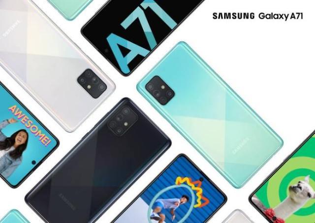三星电子Galaxy A71首次亮相印尼