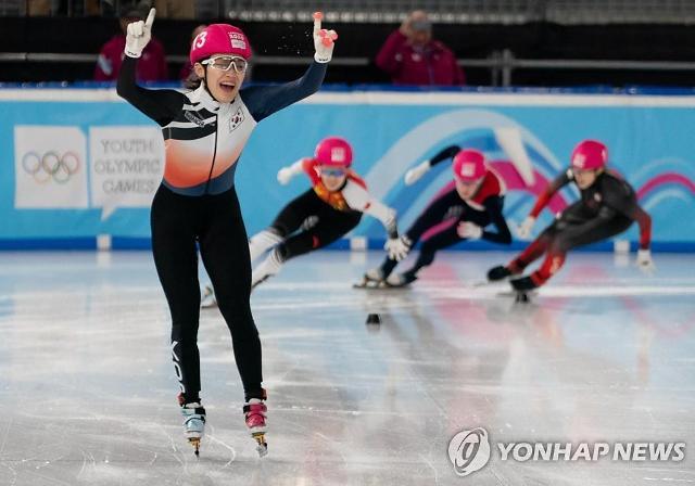 한국, 동계청소년올림픽 쇼트트랙 金 '싹쓸이'…서휘민 2관왕