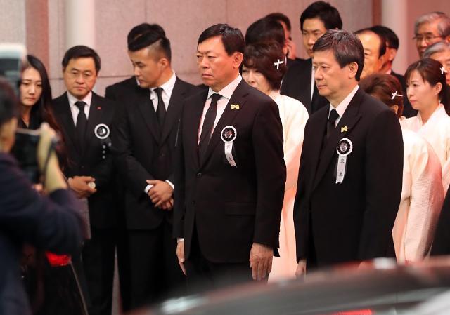 乐天集团创始人辛格浩出殡