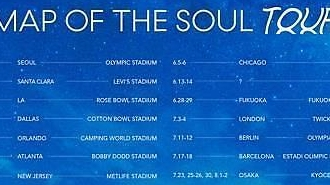 BTS tiết lộ lịch trình năm nay cho tour diễn vòng quanh thế giới MAP OF THE SOUL