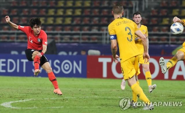 한국, 호주戰 김대원 선제골 1-0…올림픽 눈앞