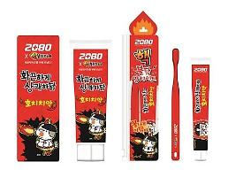 .New toothpaste bears fiery burning taste of spicy instant noodle .