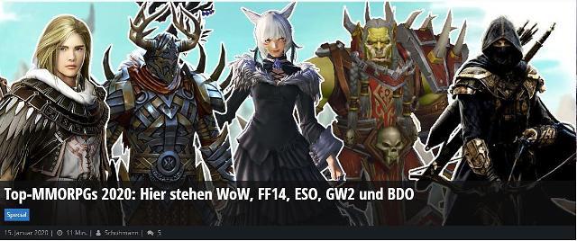 펄어비스 검은사막, 북미·유럽서 '2020년 최고의 MMORPG' 선정