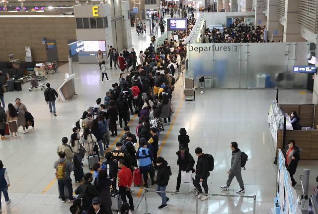 去年韩境内机场发送旅客人数达1.6亿