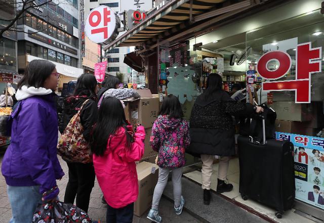 韩国春节期间口罩等防疫用品销量剧增