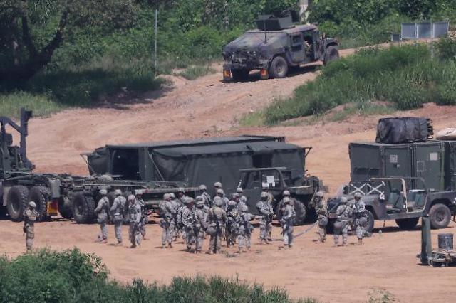 주한미군, 중국 방문 미군 장병 증세 여부 상관없이 14일간 격리