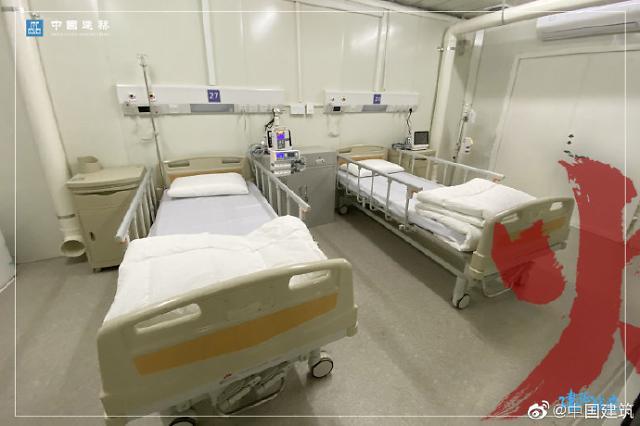 [중국포토]中 신종 코로나 우한 응급병원 내부사진 공개