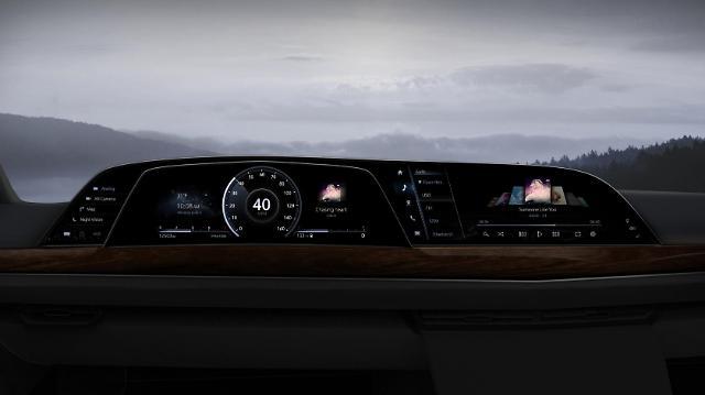 LGs plastic OLED digital cockpit solution used for Cadillac Escalade