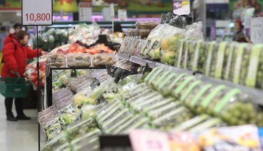 韩去年消费者物价上涨率跌至OECD倒数