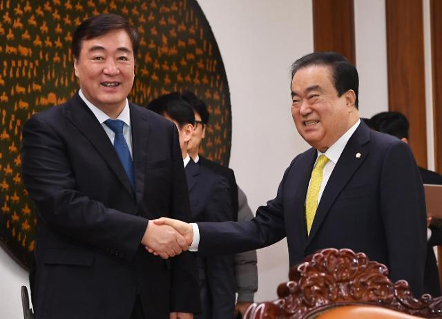 韩国国会议长会见中国大使