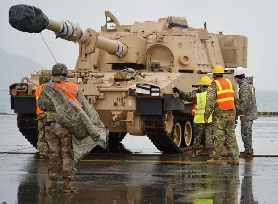 주한미군 육군1사단·2기갑여단 오늘 광양항 입항... 순환배치 완료