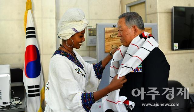 """에티오피아 6.25 참전용사 손녀들...""""할아버지, 옛 전우들 늘 만나고 싶어 했어요"""""""
