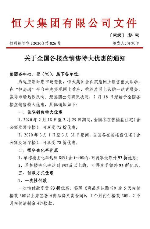 중국 부동산 기업 헝다, 자사 소유 건물 25% 할인 판매