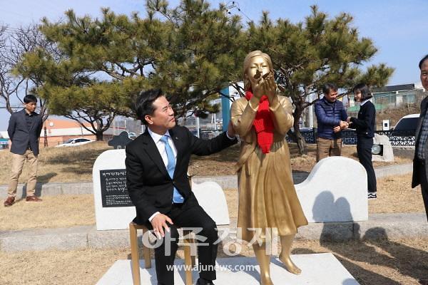 부여군, 15일 부여 평화의 소녀상 제막
