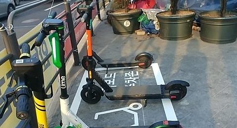 Seoul to test operate parking zone for electric scooters for safety of pedestrians