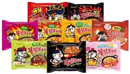 .Exports of S. Korean instant noodles up 122% over 5 years.